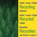 Recycled adresetiketten