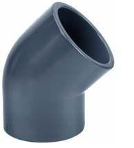PVC elbow 45'