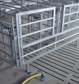 Uitschuifbare hekken met doorstap 2.00 m – 2.40 m