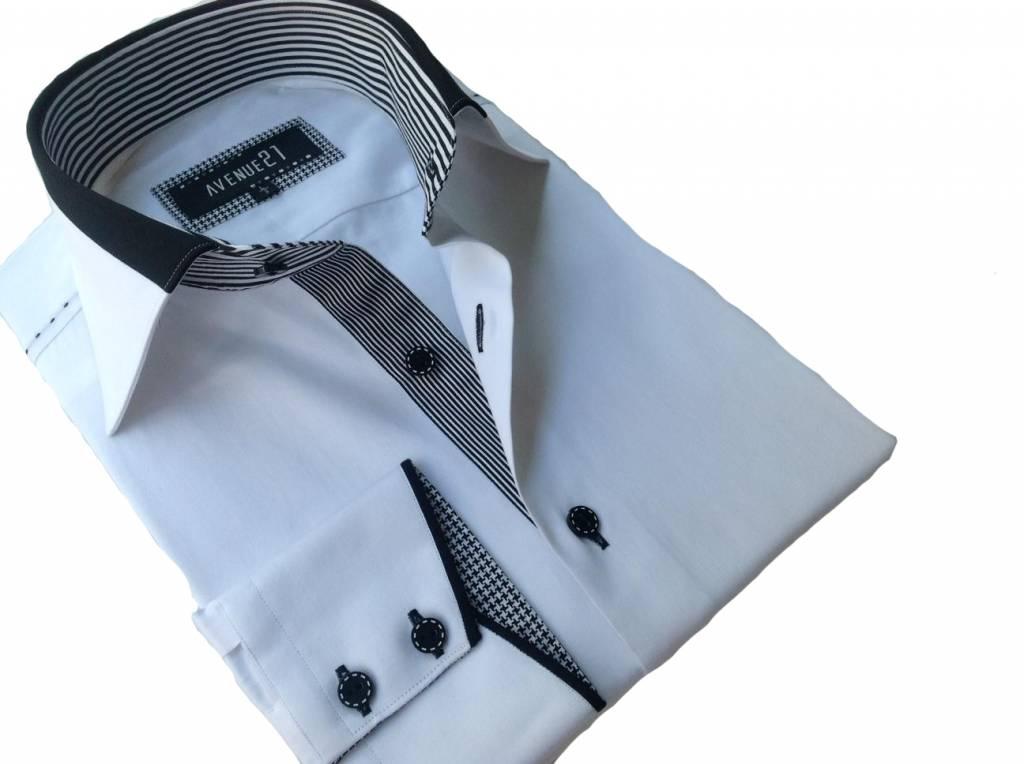 narzist hemden weiss mit schwarz gestreifte bord re f r. Black Bedroom Furniture Sets. Home Design Ideas