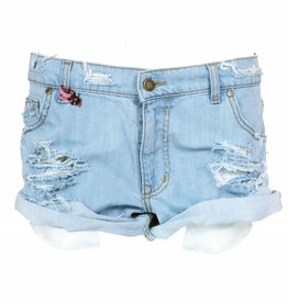 MESH DIVINE SHORTS BASIC DENIM