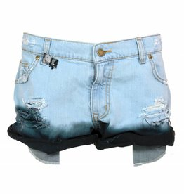 MESH DIVINE SHORTS DENIM/SCHWARZ