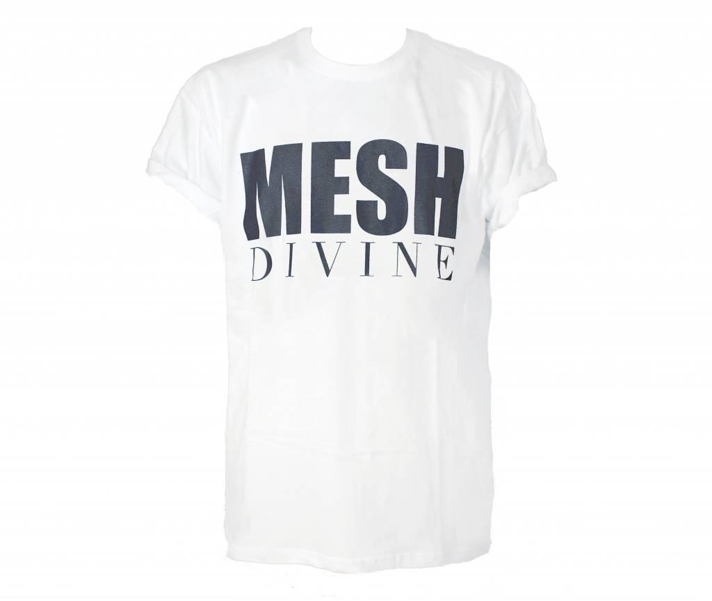 MESH DIVINE LOGO T-SHIRT SCHWARZ/WEISS