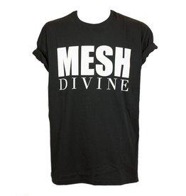 MESH DIVINE LOGO T BLACK