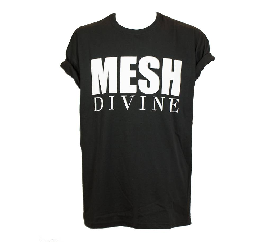 MESH DIVINE LOGO T-SHIRT WEISS/SCHWARZ