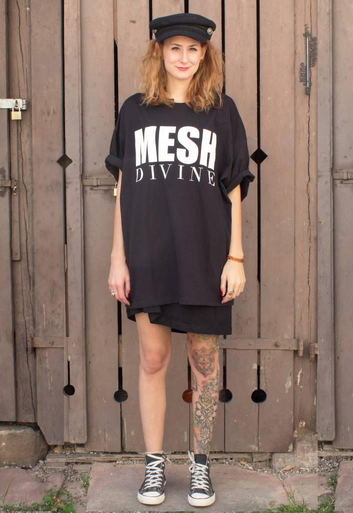 MESH DIVINE LOGO TSHIRT WEISS/SCHWARZ