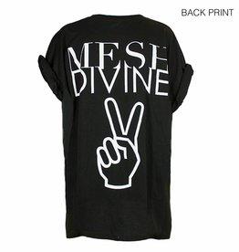 MESH DIVINE PEACE T-SHIRT WEISS/SCHWARZ