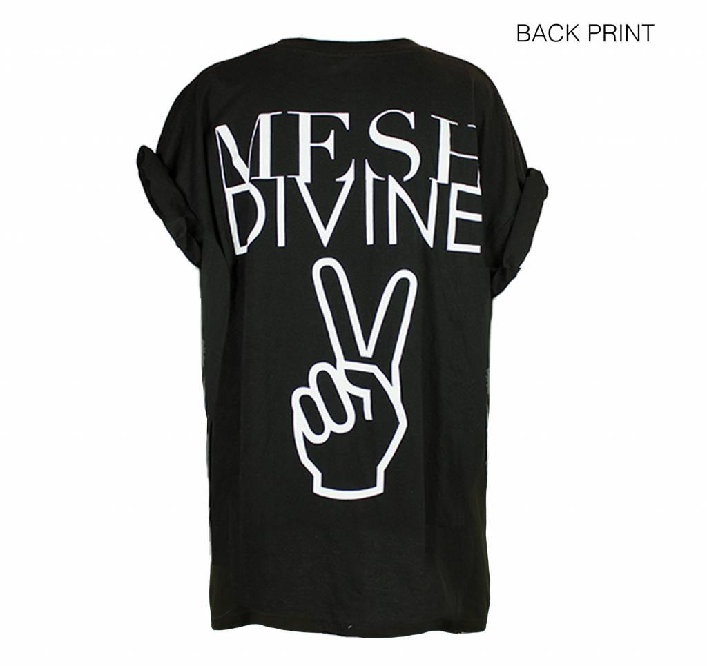 MESH DIVINE PEACE TSHIRT WEISS/SCHWARZ