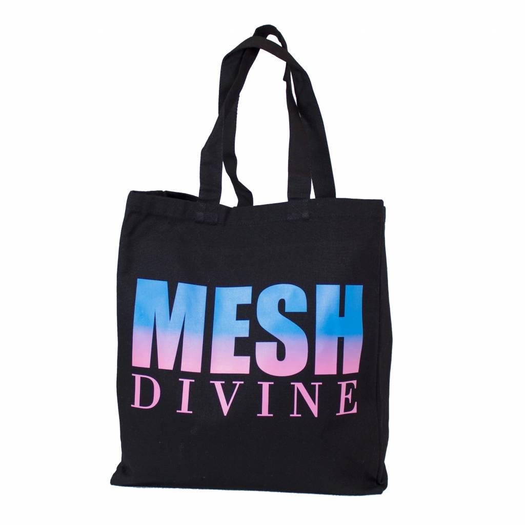 MESH DIVINE 2 TONE LOGO SHOPPER SCHWARZ