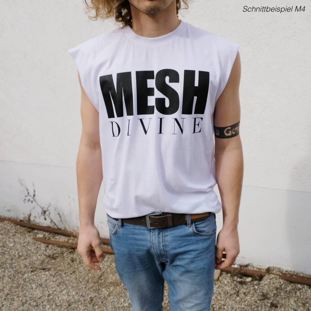 MESH DIVINE LOGO TSHIRT SCHWARZ/WEISS