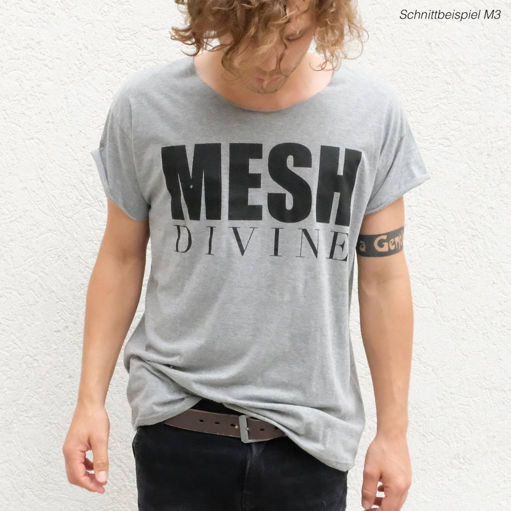 MESH DIVINE LOGO T-SHIRT SCHWARZ/GRAU