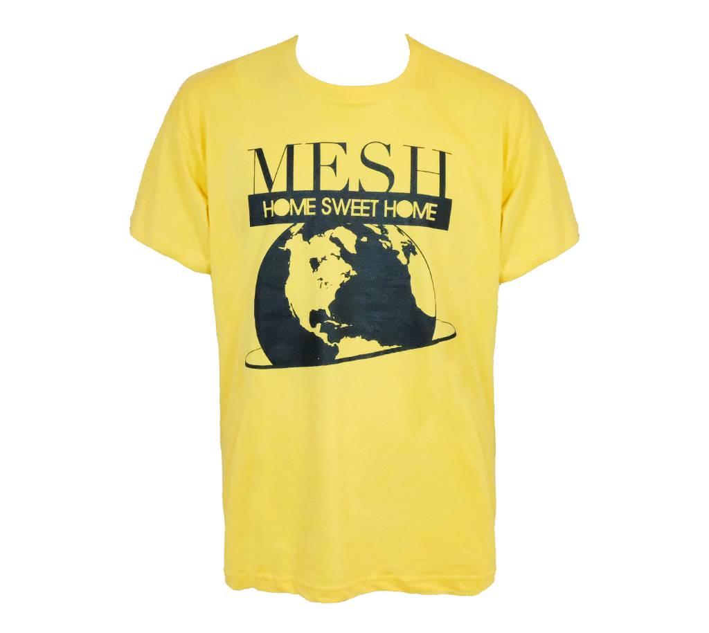MESH DIVINE HOME SWEET HOME T-SHIRT SCHWARZ/MAISGELB