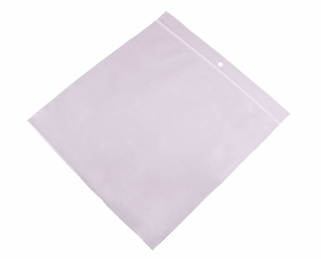 Gripzakken transparant 40 x 40 mm uit 50 micron LDPE pakje van 1000 stuks