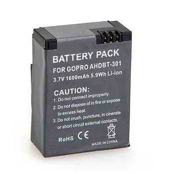 High Capacity Batterij / Accu voor GoPro Hero 3/3+