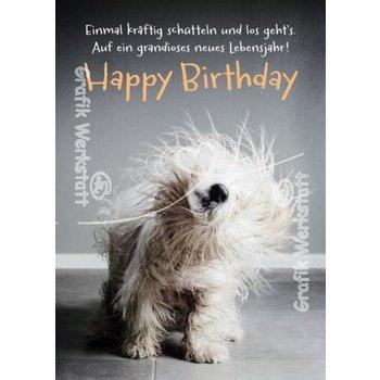 SALE Postkarte Happy Birthday