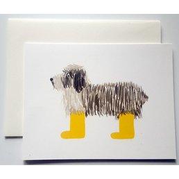 Klappkarte Hund mit Gummistiefel