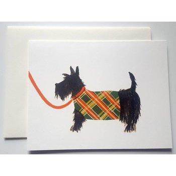 Klappkarte Hundezeichnung Schnauzer