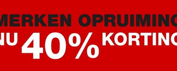 40% Korting!