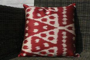 Silk Ikat pillow, 40x40cm