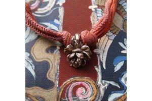 "Catherine Michiels Charm, ""La Pivoine"", Bronze"