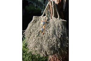 Fringed Bag, Grey