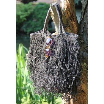 Fringed Bag, Black