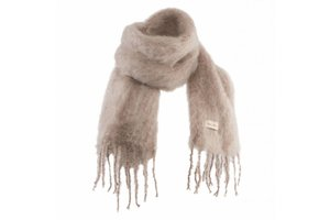 Mohair scarf, 20x160cm, Mink