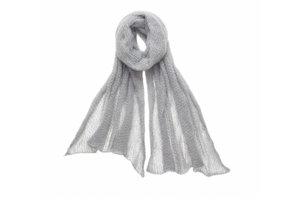 Kid Mohair scarf, 60x200cm, Silver