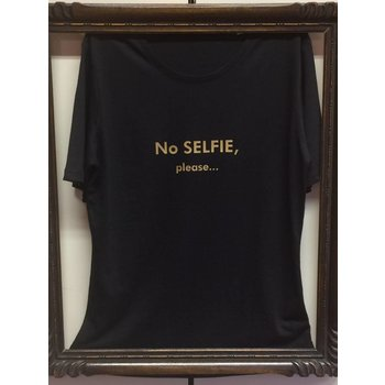 "T-shirt ""No Selfie please..."", black"