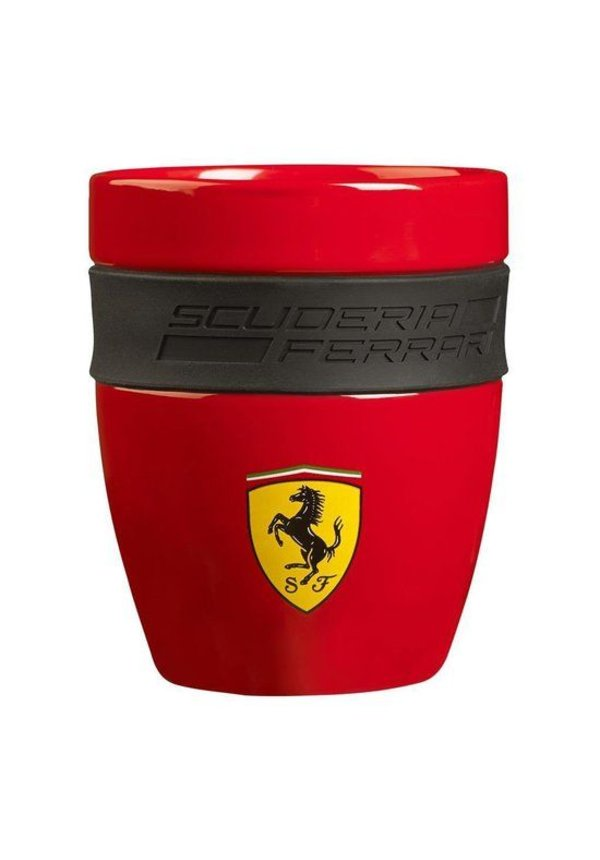 Ferrari mok rood.