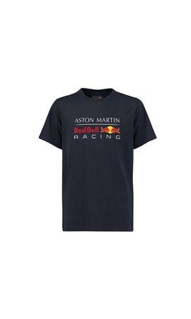 Red Bull Racing RBR Logo T Shirt blauw 2018 MEN