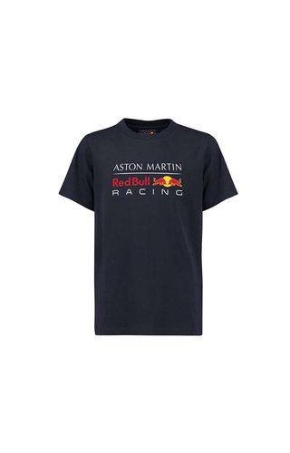 Red Bull Racing RBR Logo T Shirt blauw  MEN