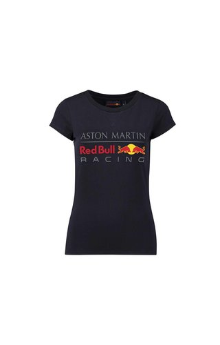 Red Bull Racing RBR Dames Large Logo T-shirt Blauw 2018