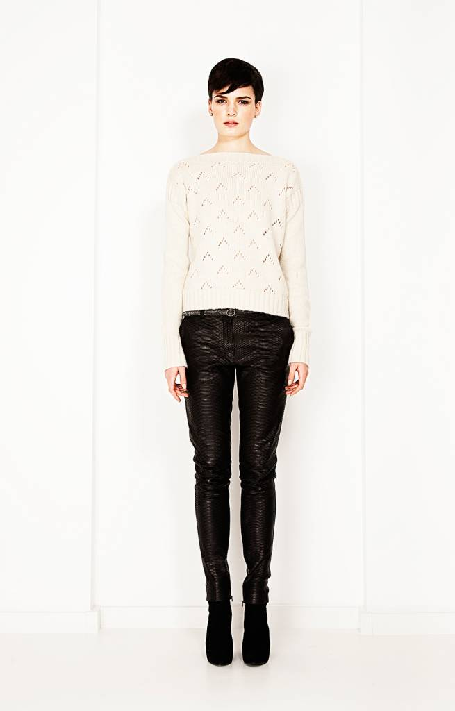 Python leather pants