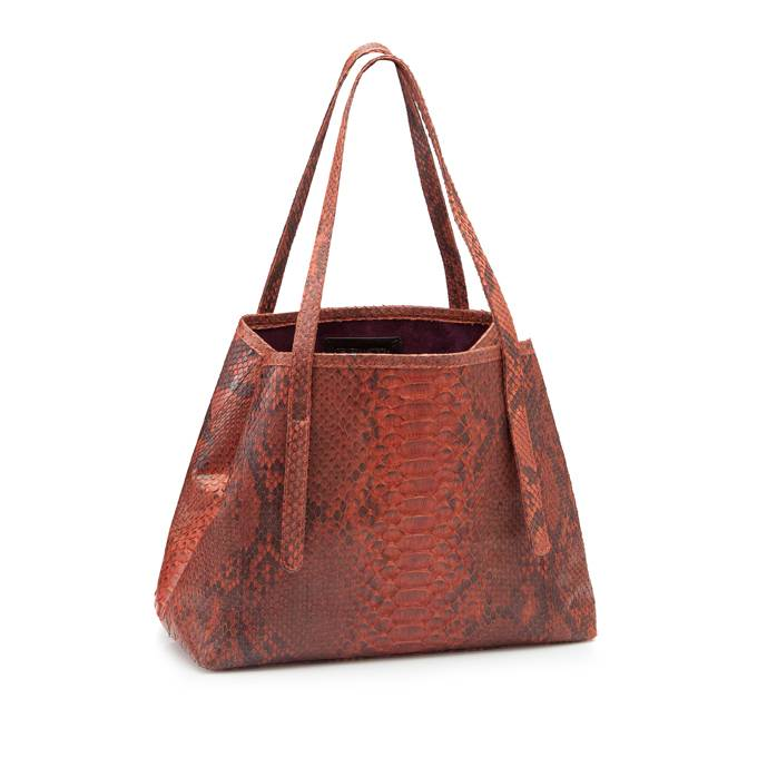 Mini Tote Bag Brown/Orange