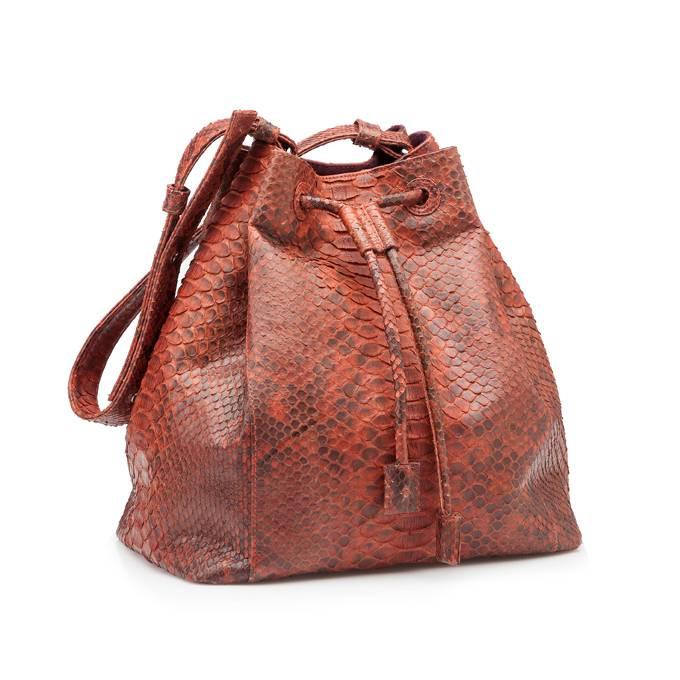 Bucket Bag Brown/Orange