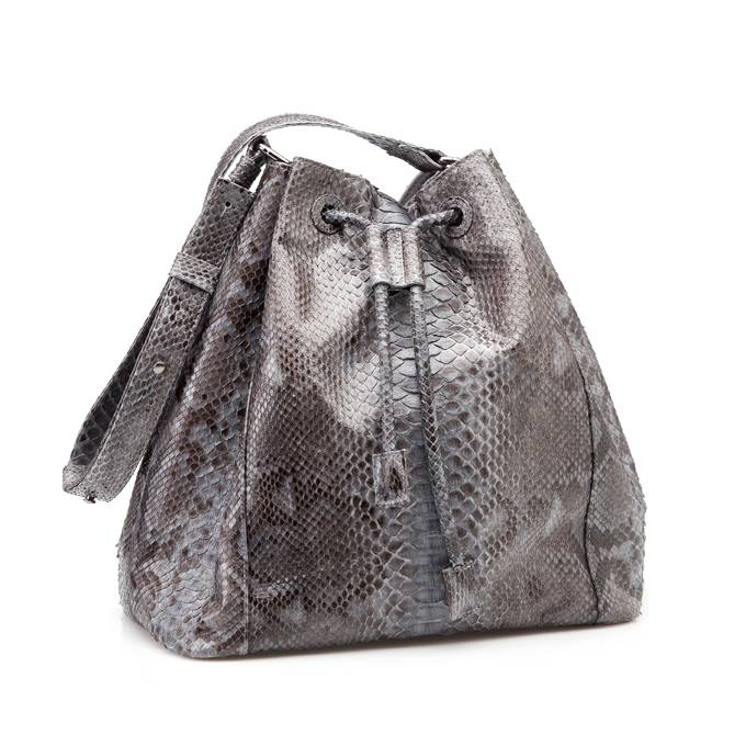 Bucket Bag Grey Flower