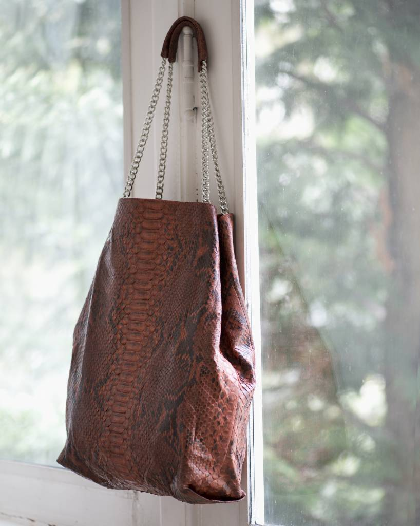 Soft Tote Orange Brown