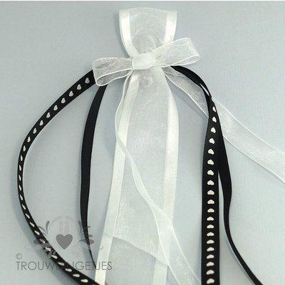 Antennelintje zwart wit 30cm (per stuk)