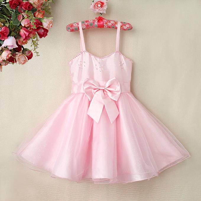 Meisjeskleding Meisjes Feestjurk Melissa - roze