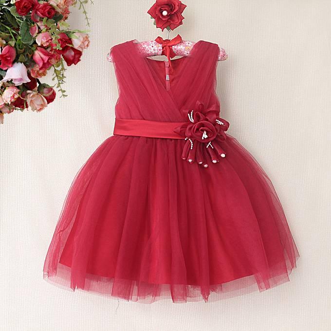 Meisjeskleding Meisjes Feestjurk Melanie - ruby