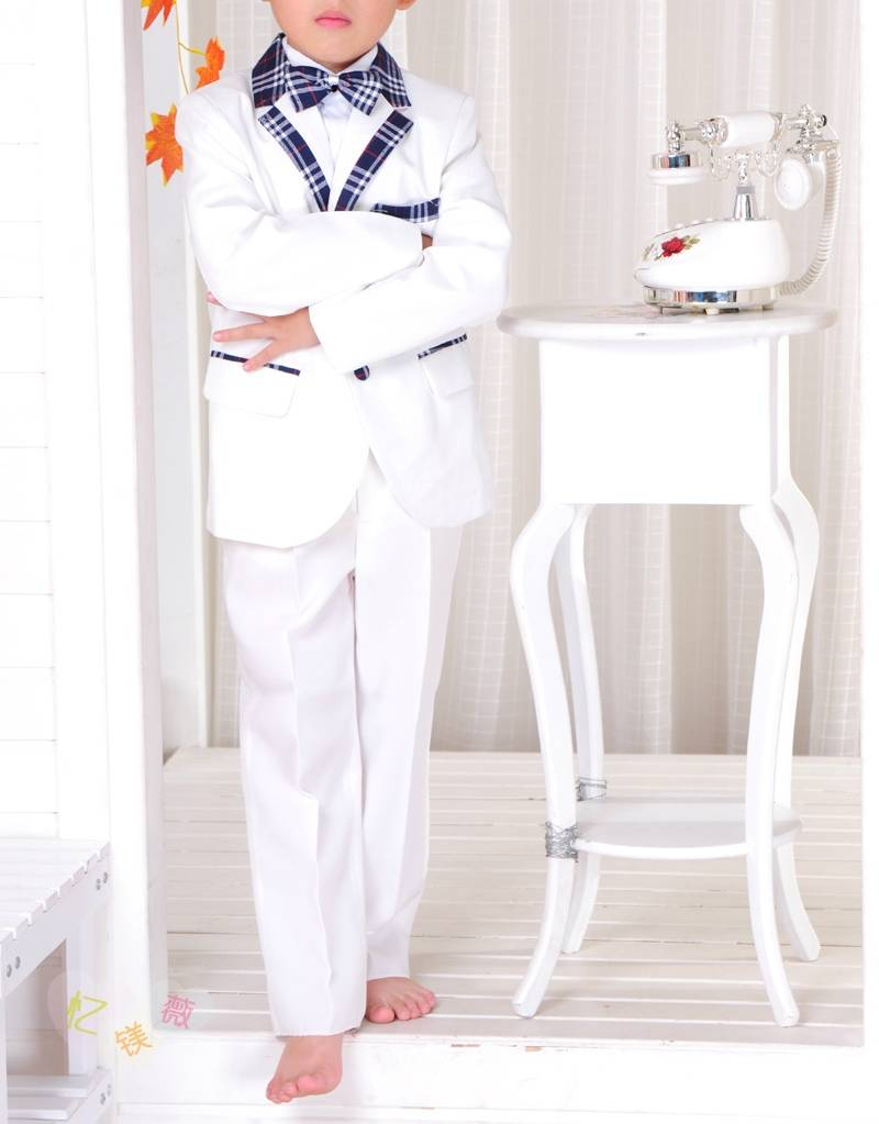 Jongenskleding Jongenskostuum Michael - wit / blauw