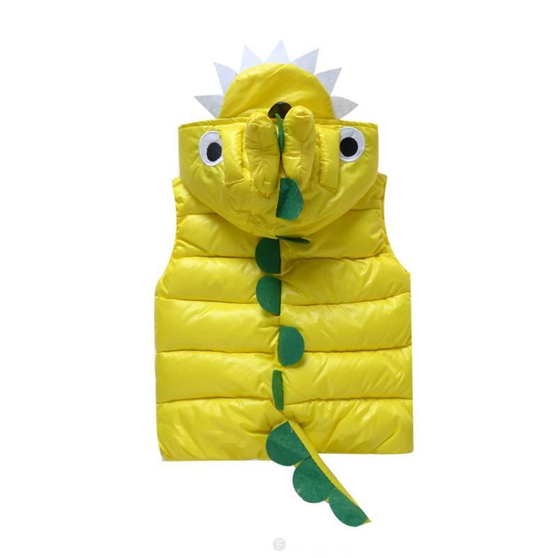 Jongenskleding Draakje Jongens Bodywarmer - geel