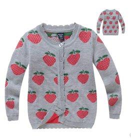 Meisjeskleding Aardbeien Vest - grijs