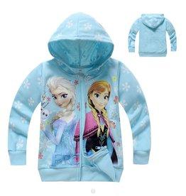 Meisjeskleding Frozen Sweatvest 2 - lichtblauw