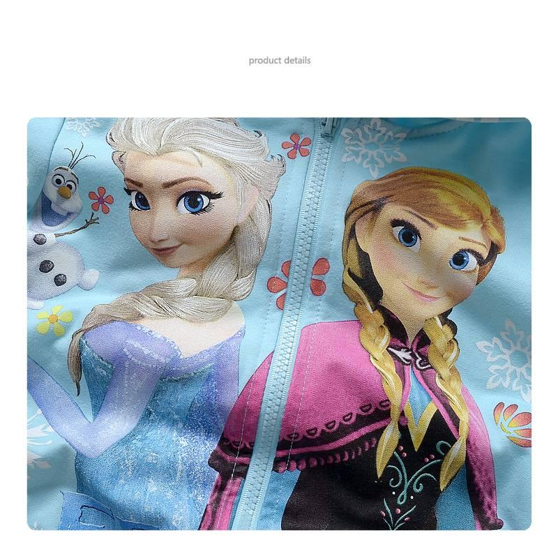 Meisjeskleding Disney Frozen Meisjes Sweatvest 2 - lichtblauw