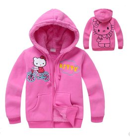 Meisjeskleding Hello Kitty Sweatvest - roze