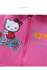 Meisjeskleding Hello Kitty Meisjes Sweatvest - roze