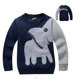 LaraModa Olifant Sweater - donkerblauw