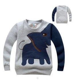 LaraModa Olifant Sweater - grijs
